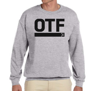Orange Theory crew sweatshirt Sports Grey